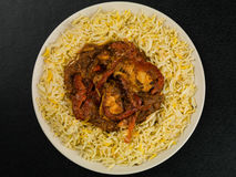 Chicken Jalfrezi Curry And Pilau Rice Royalty Free Stock Images