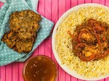 Chicken Jalfrezi Curry And Pilau Rice Stock Photography
