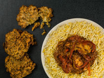 Chicken Jalfrezi Curry And Pilau Rice Stock Images