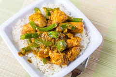 Chicken Jalfrezi - Indian or Pakistani Curry Royalty Free Stock Photo