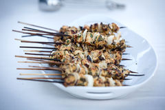 Chicken kabobs Stock Photos