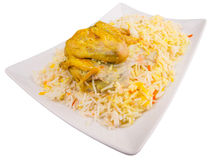 Chicken Kabsa III. Chicken Kabsa Rice, a popular traditional Middle Eastern cuisine Royalty Free Stock Photography