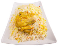 Chicken Kabsa IV. Chicken Kabsa Rice, a popular traditional Middle Eastern cuisine Royalty Free Stock Photos