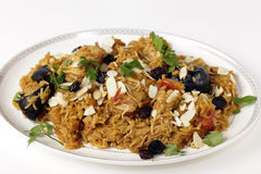 Chicken kabsa on a serving plate Stock Photos