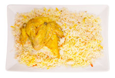 Chicken Kabsa V. Chicken Kabsa Rice, a popular traditional Middle Eastern cuisine Royalty Free Stock Photos