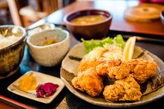 Chicken karaage royalty free stock photography