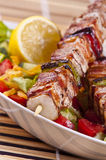 Chicken kebab stock photography