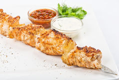 Chicken kebab Stock Photos