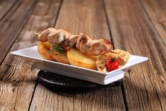 Chicken kebab Stock Photos