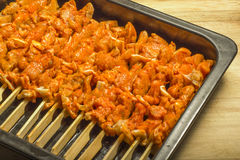 Chicken kebab Royalty Free Stock Photos