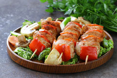 Chicken kebab with bell pepper Royalty Free Stock Photos