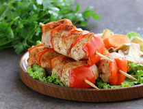 Chicken kebab with bell pepper Stock Photography