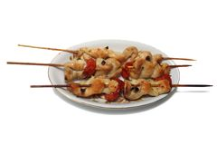 Chicken kebab isolated royalty free stock image