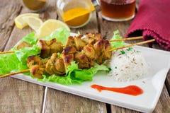 Chicken kebab Stock Images