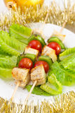 Chicken kebab with tomato Stock Photo