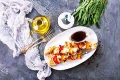 Chicken kebab Royalty Free Stock Image