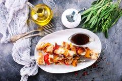Chicken kebab Royalty Free Stock Photography