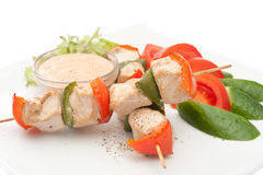 Chicken kebab Stock Images