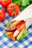 Chicken kebab wrap Royalty Free Stock Photography