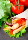 Chicken kebab wrap Royalty Free Stock Photo