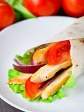 Chicken kebab wrap Royalty Free Stock Image