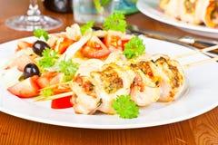 Chicken kebabs Royalty Free Stock Photos
