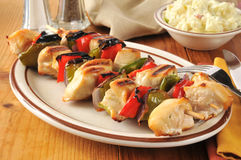 Chicken kebabs Stock Photo