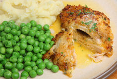 Chicken Kiev Breast Dinner Royalty Free Stock Images
