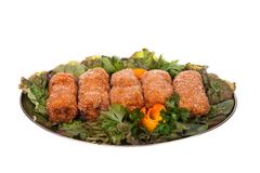 Chicken Kiev. cutlet Stock Photo