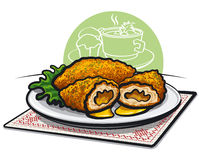 Chicken kiev cutlet Stock Photography
