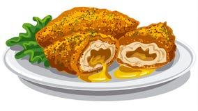 Chicken Kiev Cutlets Stock Photos