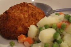Chicken Kiev Dinner royalty free stock image