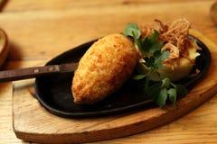 Chicken Kiev dish Royalty Free Stock Photo
