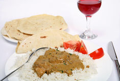 Chicken korma curry horizontal Royalty Free Stock Photo