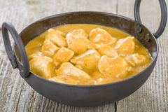 Chicken Korma. Chicken on a mildly spiced creamy sauce. Indian cuisine Royalty Free Stock Photos