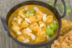 Chicken Korma. Chicken on a mildly spiced creamy sauce. Indian cuisine Royalty Free Stock Photo