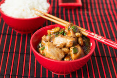 Chicken Kung Pao - traditional Chinese dishes Royalty Free Stock Image