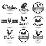 Chicken label Royalty Free Stock Image