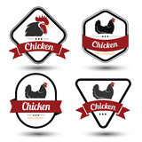 Chicken label 4 Stock Photo