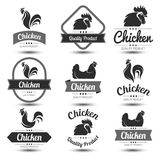 Chicken label Royalty Free Stock Photos