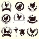 Chicken labels set. Vector Stock Images