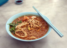 Chicken Laksa Stock Photography