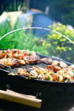 Chicken and lamb kebabs Royalty Free Stock Photo