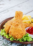 Chicken leg breaded Stock Photos