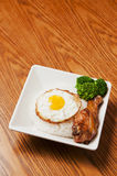 Chicken leg  and  egg Royalty Free Stock Image