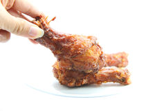 Chicken leg fried Stock Image