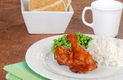 Chicken leg meal with vegetables Royalty Free Stock Photography