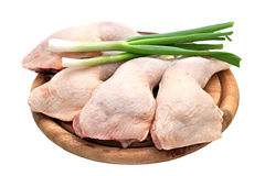 Chicken leg quarters Stock Images