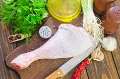 Chicken leg Royalty Free Stock Photos
