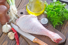Chicken leg Stock Photos